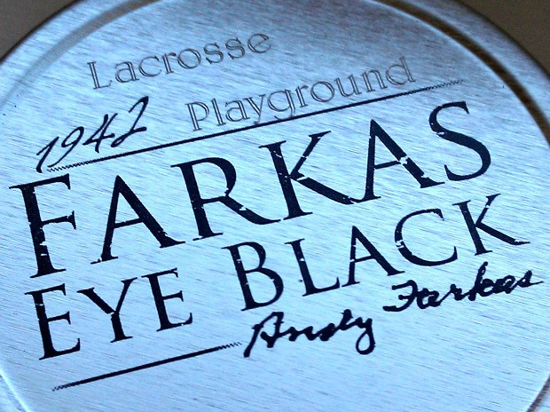 Lax Playground farkas engraved tin