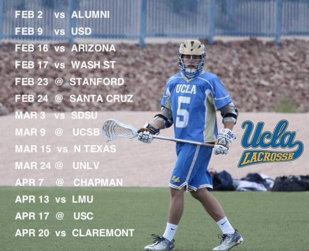 UCLA Lax 2013 Schedule Graphic