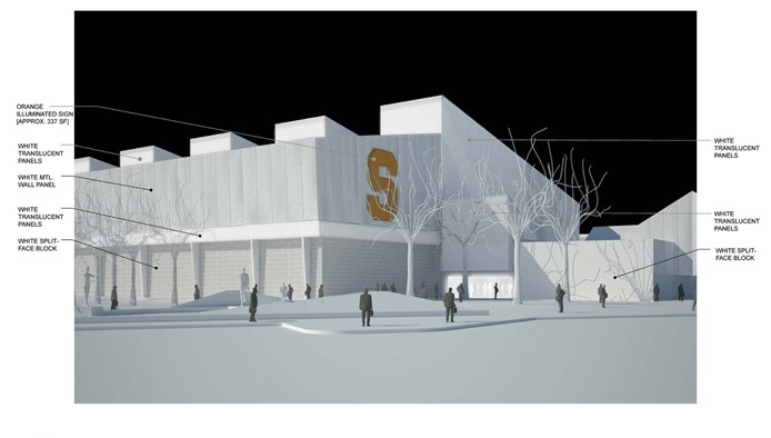 Syracuse lacrosse 17 million 102 250 square foot indoor for Indoor facility design