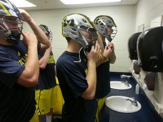 michigan practice helmet