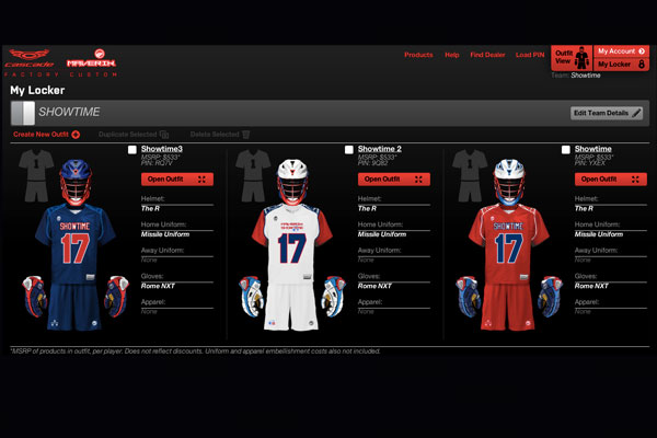 Cascade and Maverik Lacrosse Launch Custom Team Builder at