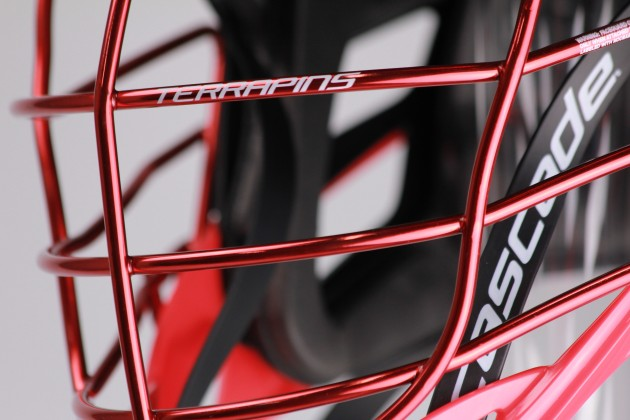 .@CascadeLacrosse and @GorillaWrapz Collab for Custom Maryland Helmets