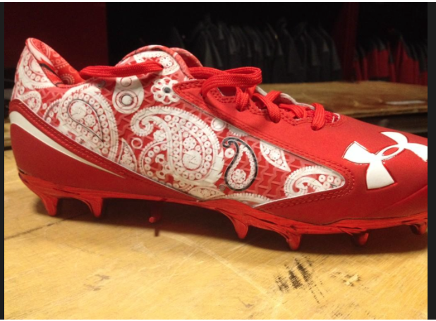 red bandana cleats